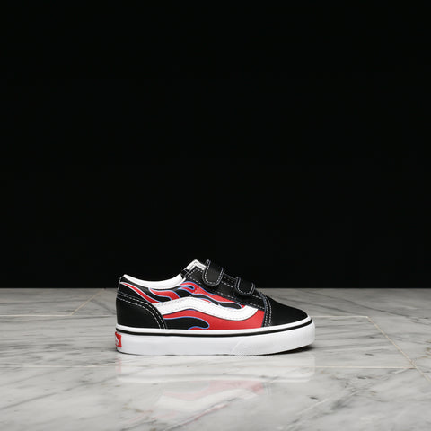 "OLD SKOOL V ""MOTO FLAME"" (TD) - BLACK / RACING RED"