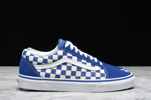 "OLD SKOOL ""PRIMARY CHECK"" - TRUE BLUE"