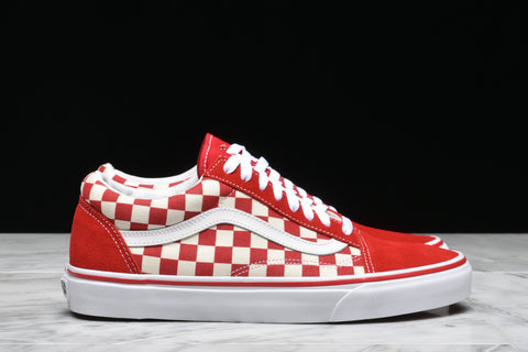 "OLD SKOOL ""PRIMARY CHECK"" - RACING RED"