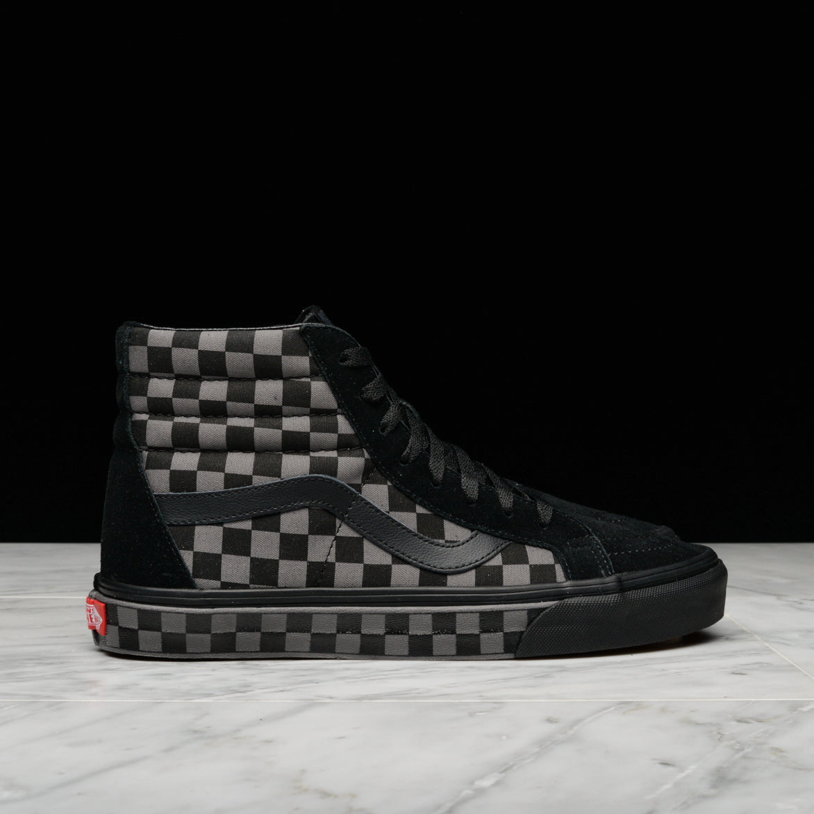 Buy black pewter checkerboard vans 349506558