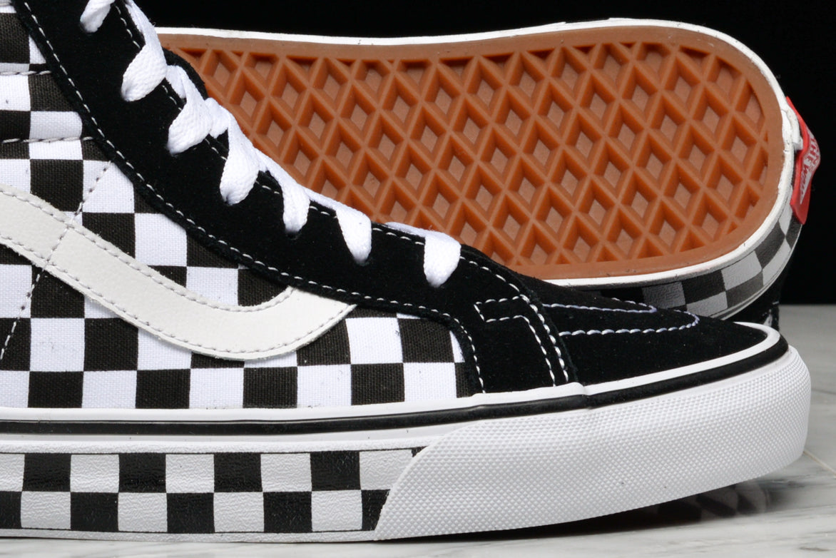 SK8-HI REISSUE CHECKERBOARD - BLACK / WHITE