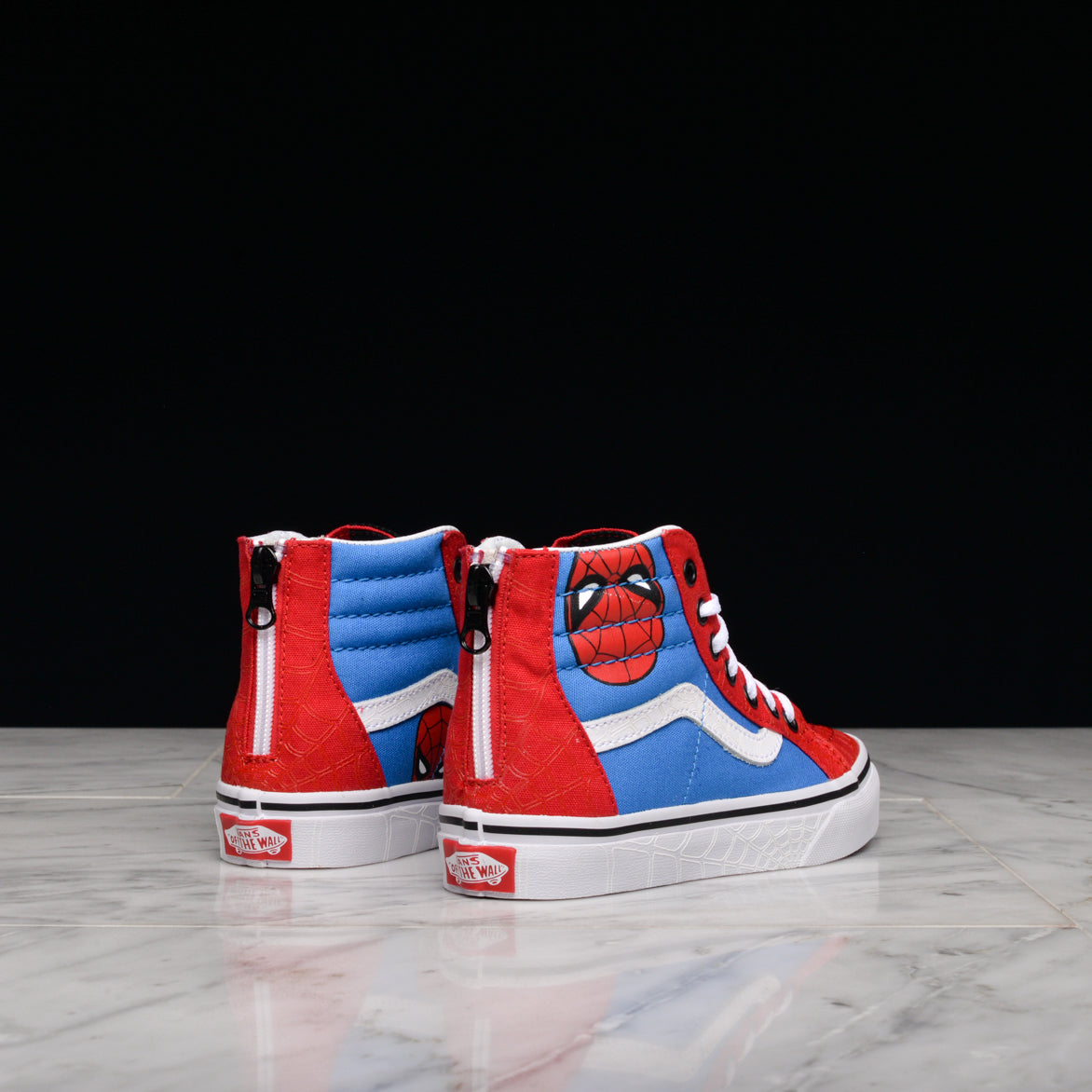MARVEL X VANS SK8-HI ZIP (KIDS) - SPIDER MAN