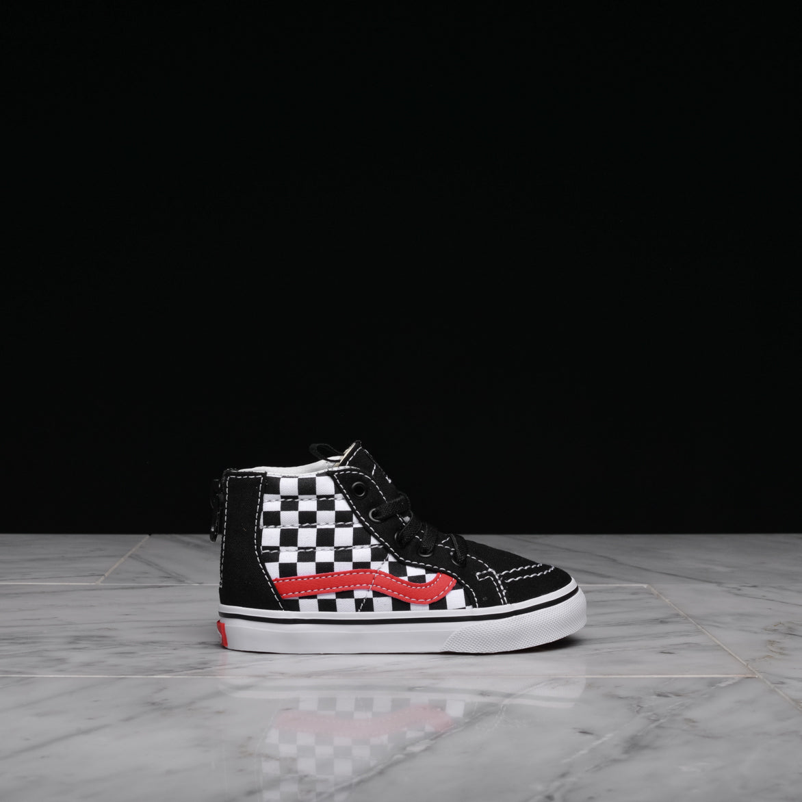 5336c774f3 SK8-HI ZIP CHECKERBOARD (TD) - BLACK   RED   WHITE ...