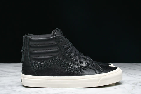 SK8-HI ZIP WEAVE DX LEATHER - BLACK