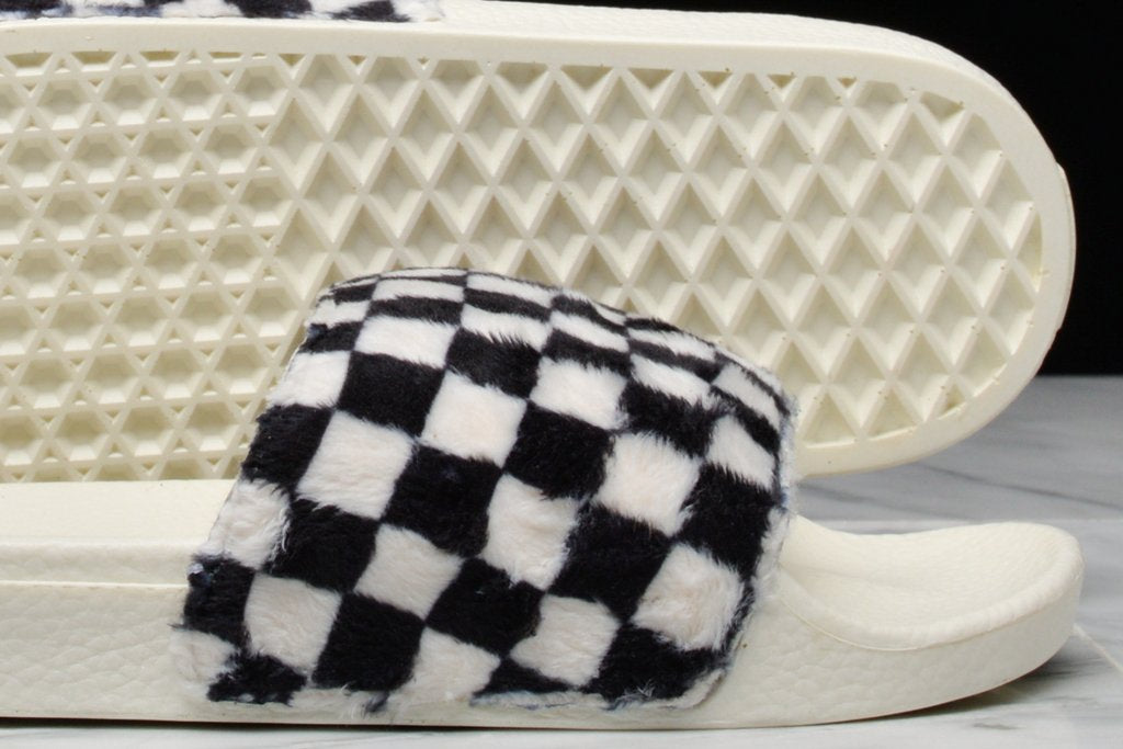b386887d5bf WMNS SLIDE-ON SHERPA CHECKERBOARD - BLACK   WHITE ...