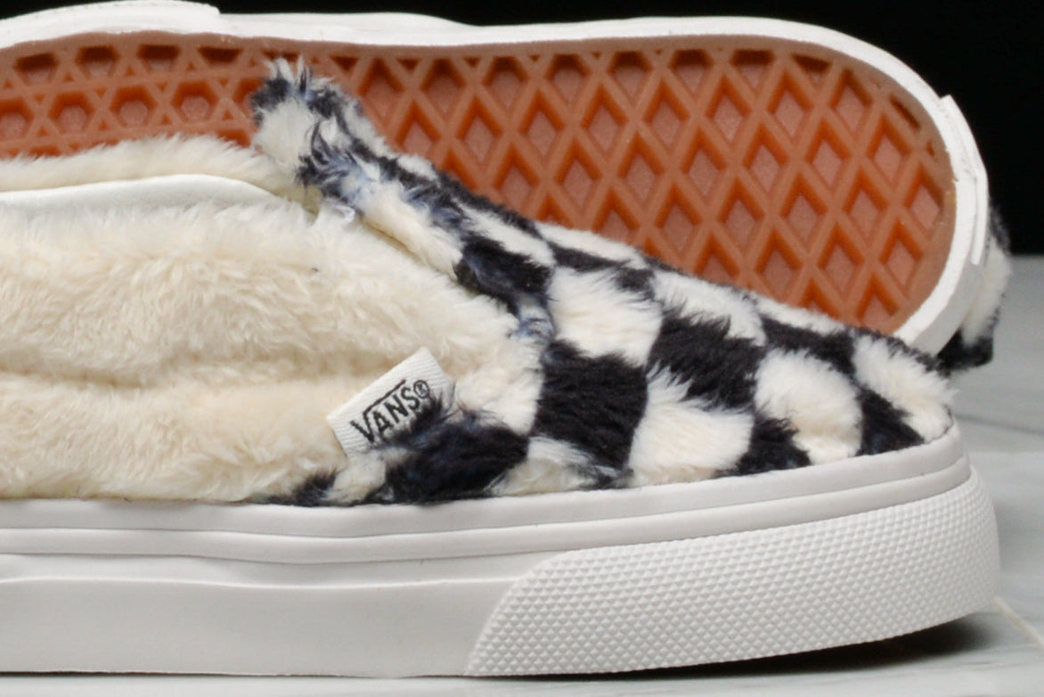 SLIP-ON SHERPA CHECKERBOARD (TODDLER) - BLACK / WHITE