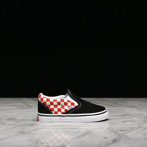 CLASSID SLIP-ON CHECKERBOARD (TD) - BLACK / RED