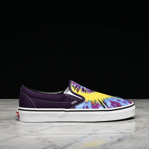 "CLASSIC SLIP-ON ""TIE DYE"" - MYSTERIOSO / TRUE WHITE"