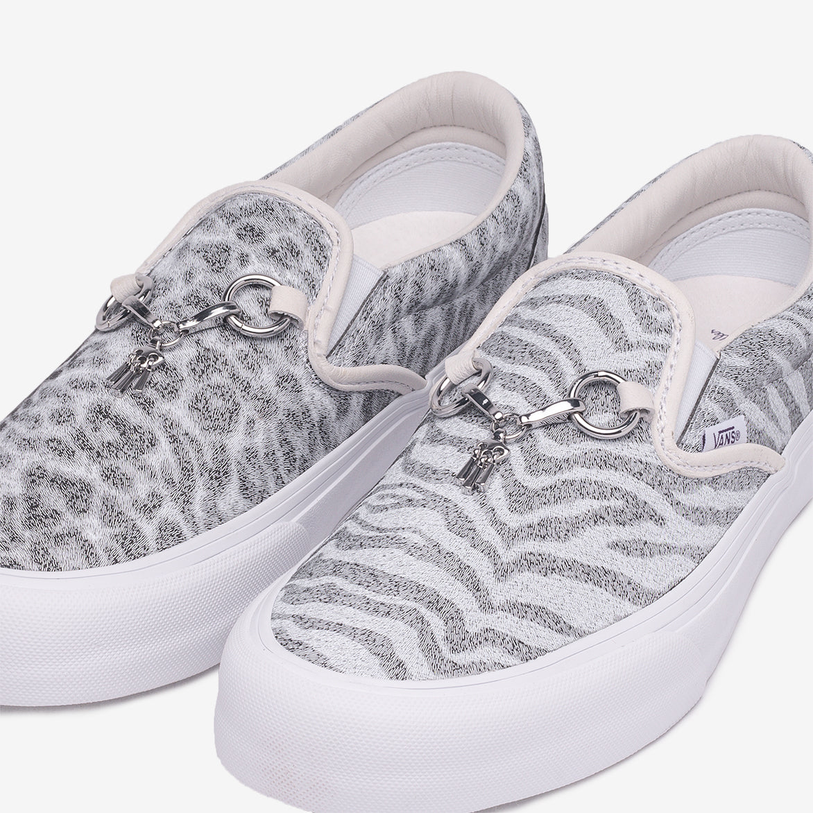 "NEEDLES X VANS CLASSIC SLIP-ON ""ANIMAL PRINT"" - WHITE"