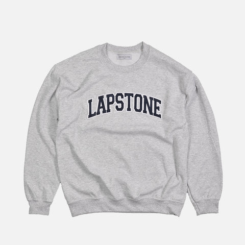 LAPSTONE VARSITY CREWNECK - HEATHER GREY / NAVY