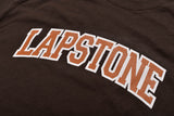 LAPSTONE VARSITY TEE - CHOCOLATE / TEXAS ORANGE