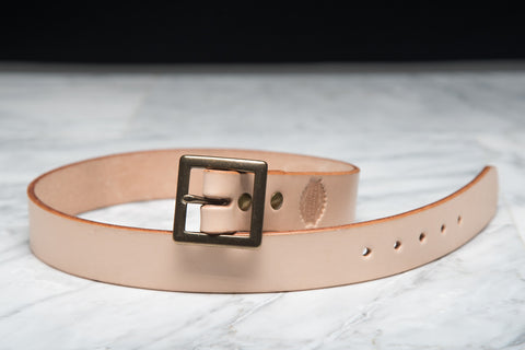 LAPSTONE & HAMMER VEGTAN BRASS LEATHER BELT (SQUARE)