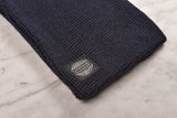 WAFFLE KNIT SCARF - NAVY