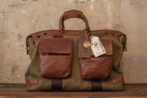 LEATHER TRAVELER DUFFLE - TOBACCO