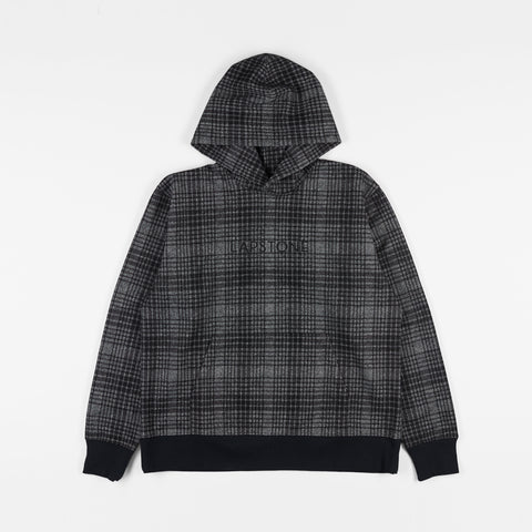 WOOL SIGNATURE HOODIE - BLACK PLAID