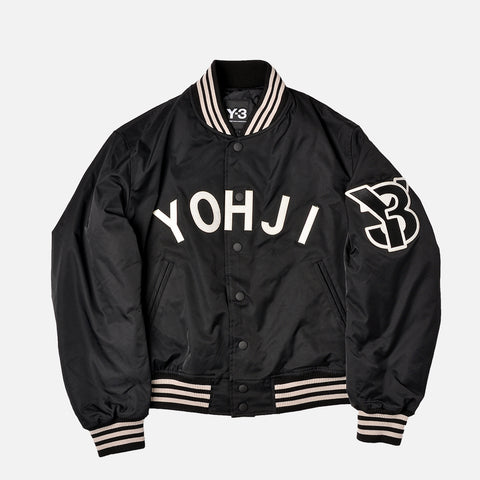 YOHJI BOMBER JACKET - BLACK