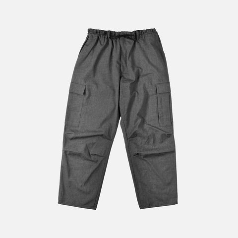 CLASSIC WINTER WOOL CARGO PANT - CHARCOAL