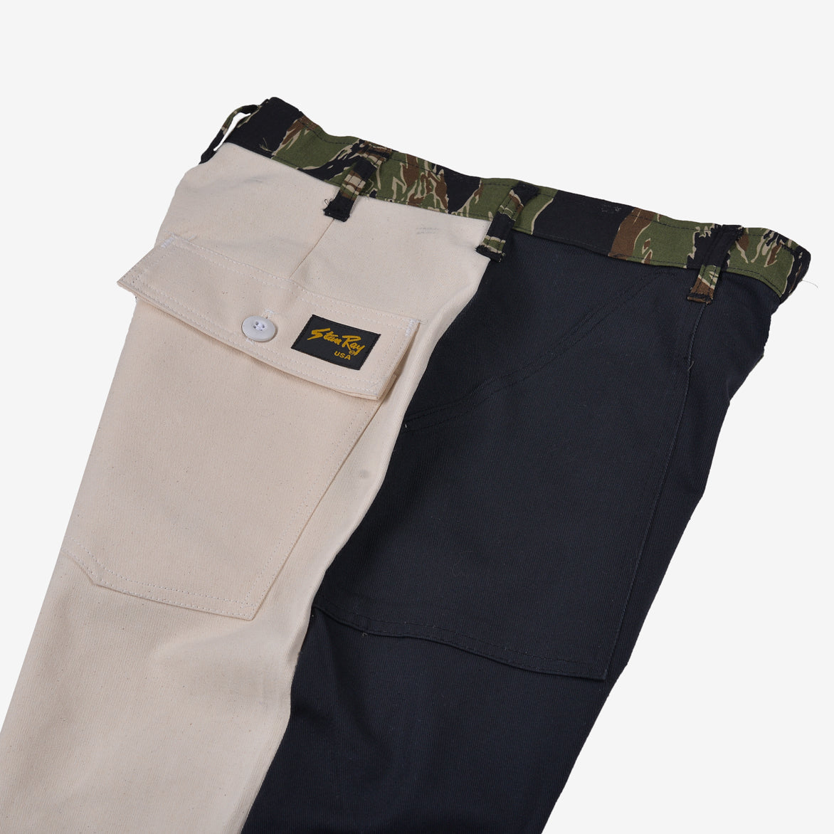 RECONSTRUCT TAPER FATIGUE PANT - NAVY / WOODLAND (2)
