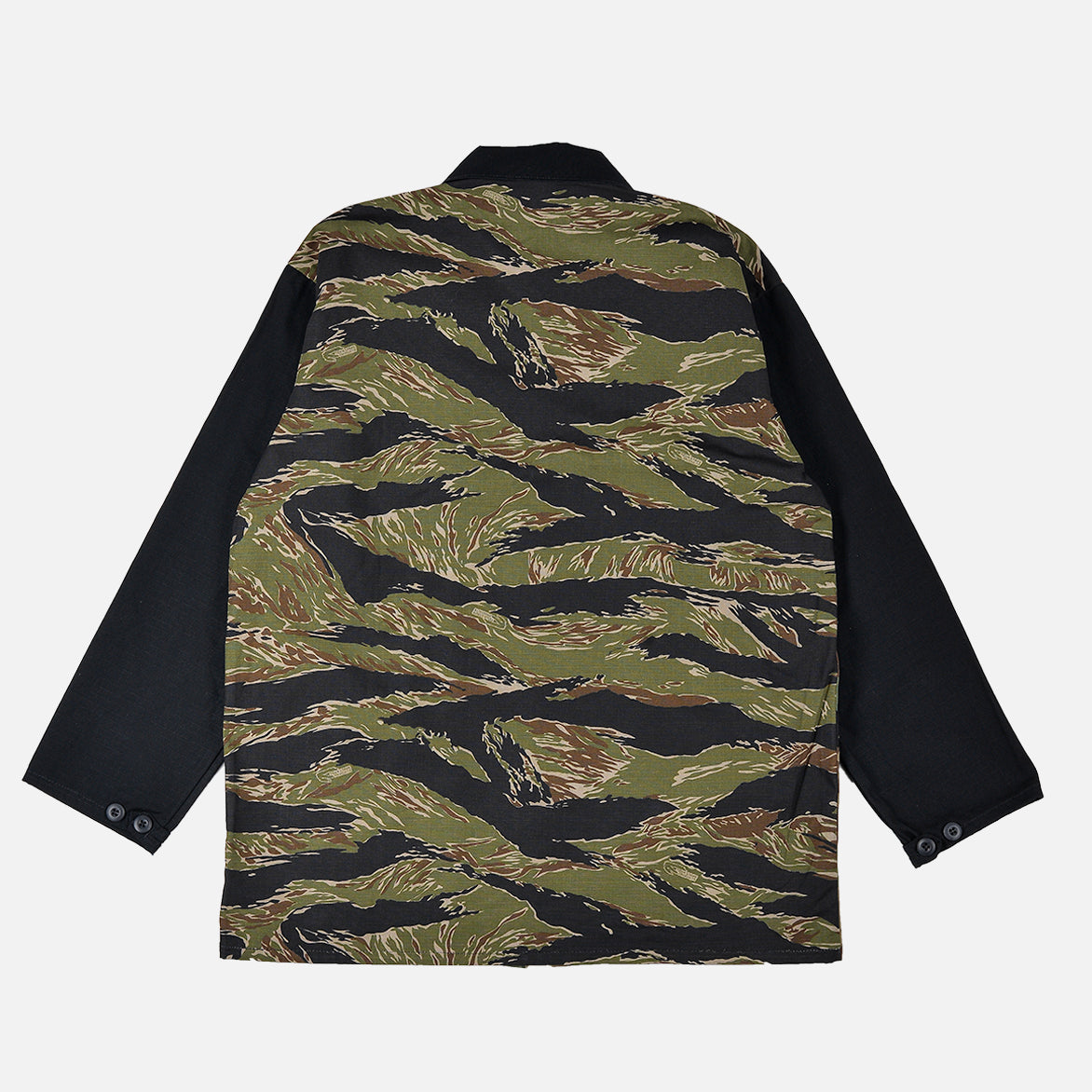 RECONSTRUCT MILITARY FATIGUE JACKET - WOODLAND CAMO