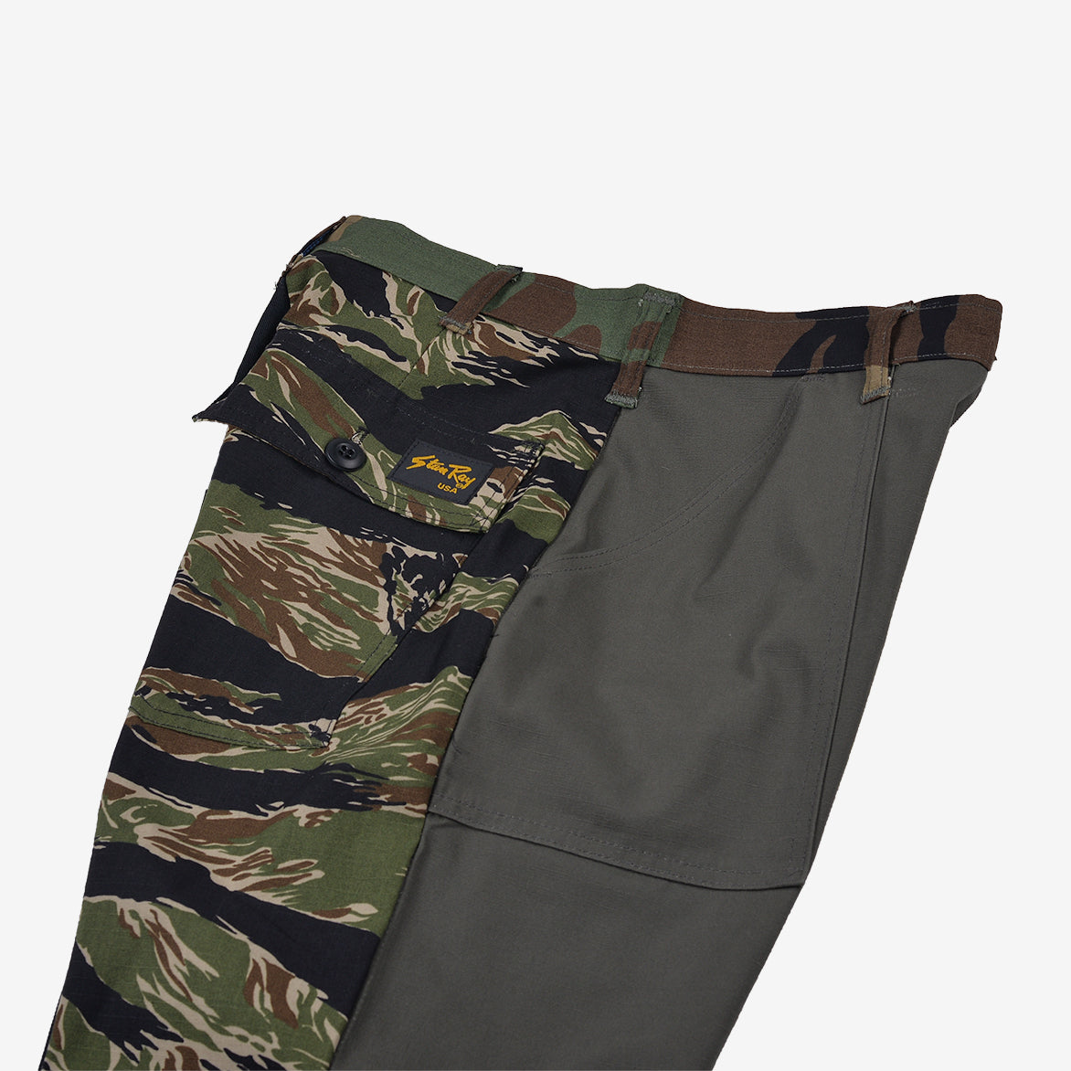 RECONSTRUCT TAPER FATIGUE PANT - OLIVE / NATURAL (1)