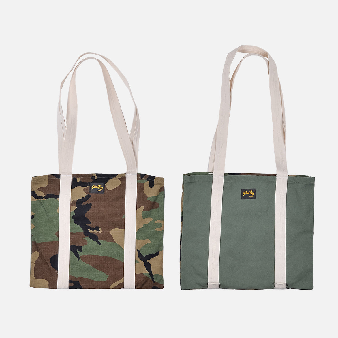RECONSTRUCT TOTE - OLIVE / WOODLAND