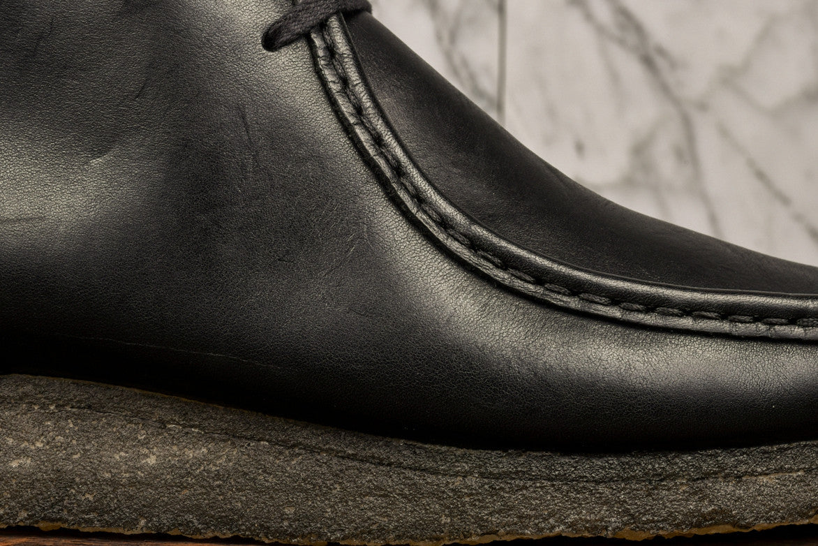 WALLABEE BOOT - BLACK LEATHER