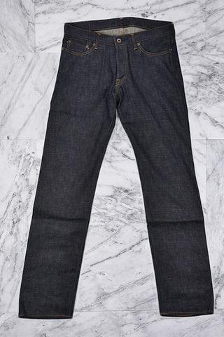 12.5oz AFRICAN BROWN MIX SLIM TAPERED - INDIGO