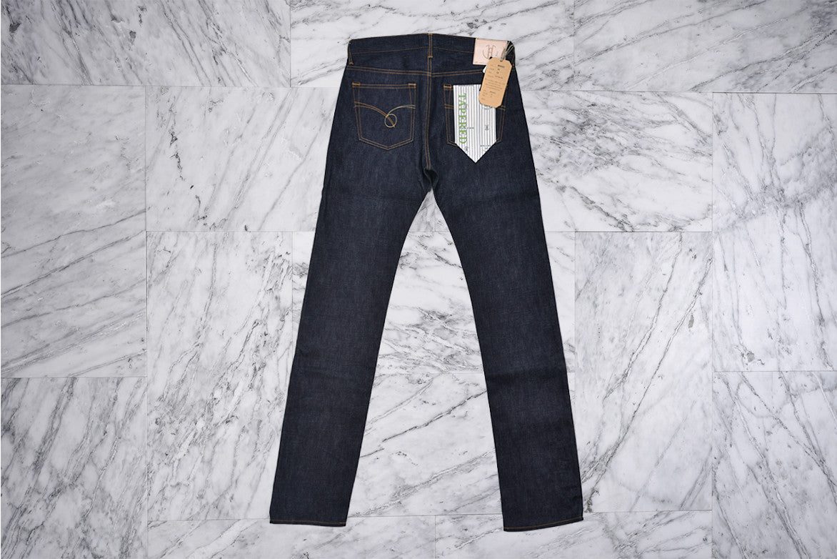 14.8oz POCKET STITCH SLIM TAPERED - INDIGO