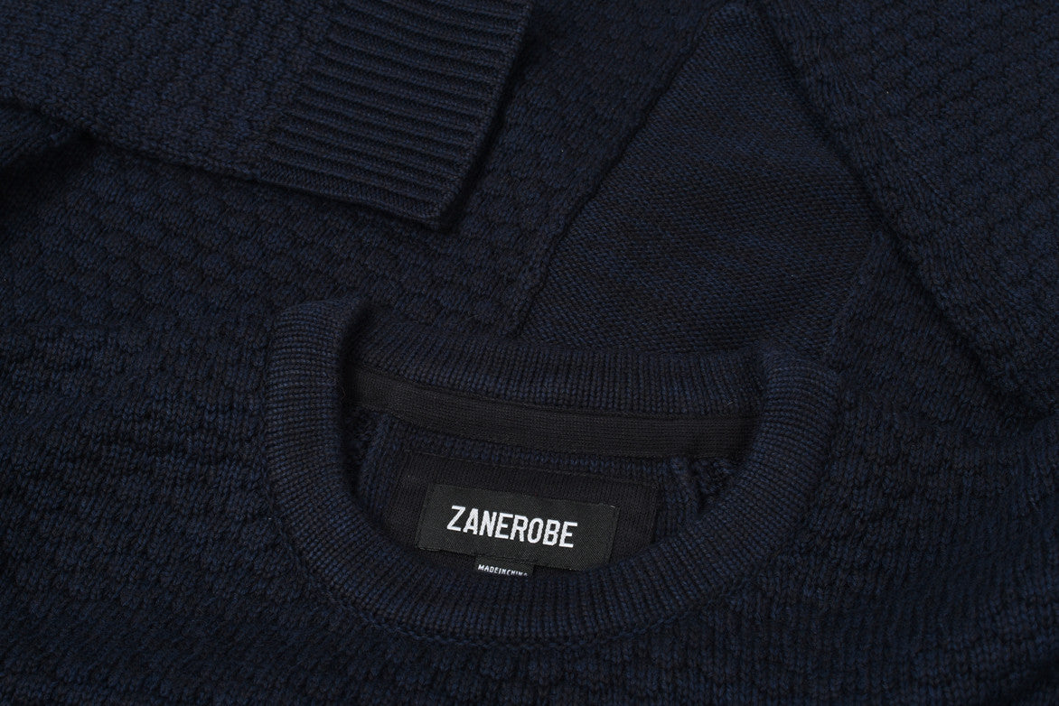 BRONX CREW KNIT - DARK NAVY
