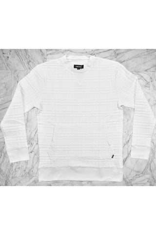 CREW SWEAT - WHITE QUILT