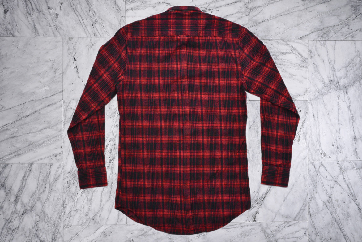 SEVEN FOOT L/S - RED FLANNO