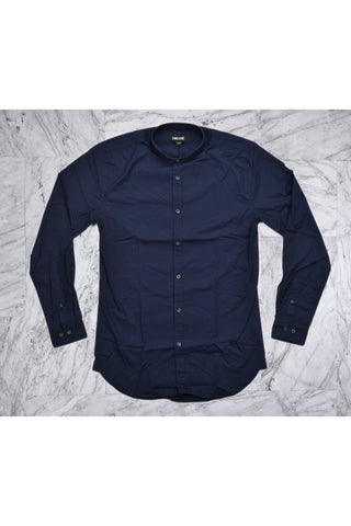 TUCK COLLAR L/S SHIRT - DARK NAVY