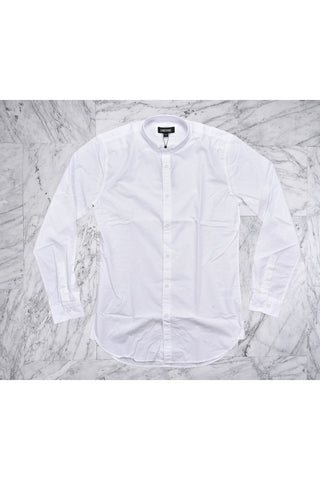 TUCK COLLAR L/S SHIRT - WHITE