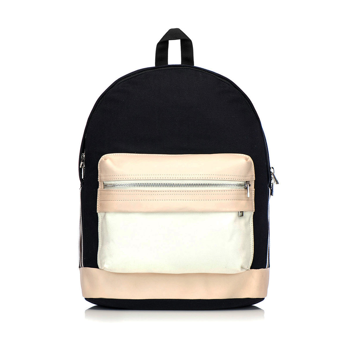 LANCER BACKPACK 80% COTTON 20% LEATHER - BLACK/VEGTAN