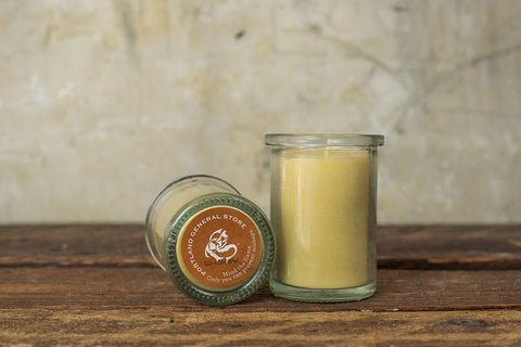 PORTLAND GENERAL STORE WHISKEY 100% BEESWAX CANDLE