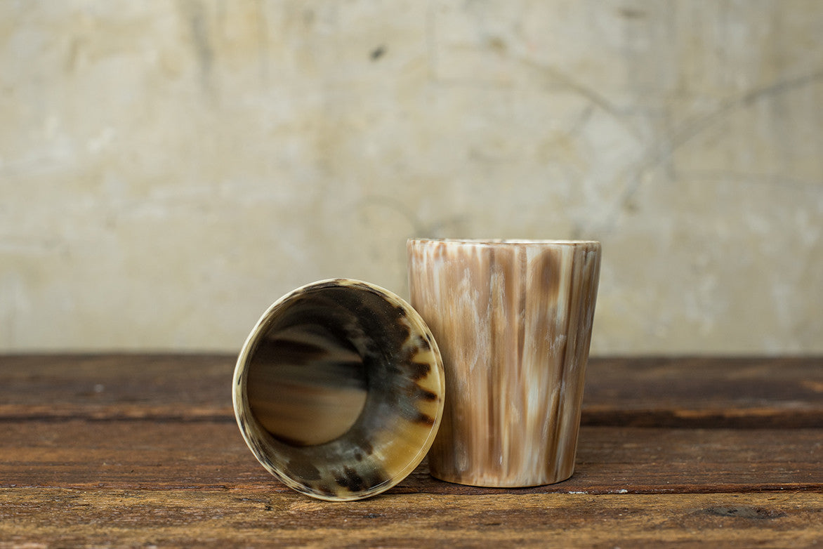 ROSE & FITZGERALD COW HORN WHISKEY TUMBLER - LIGHT