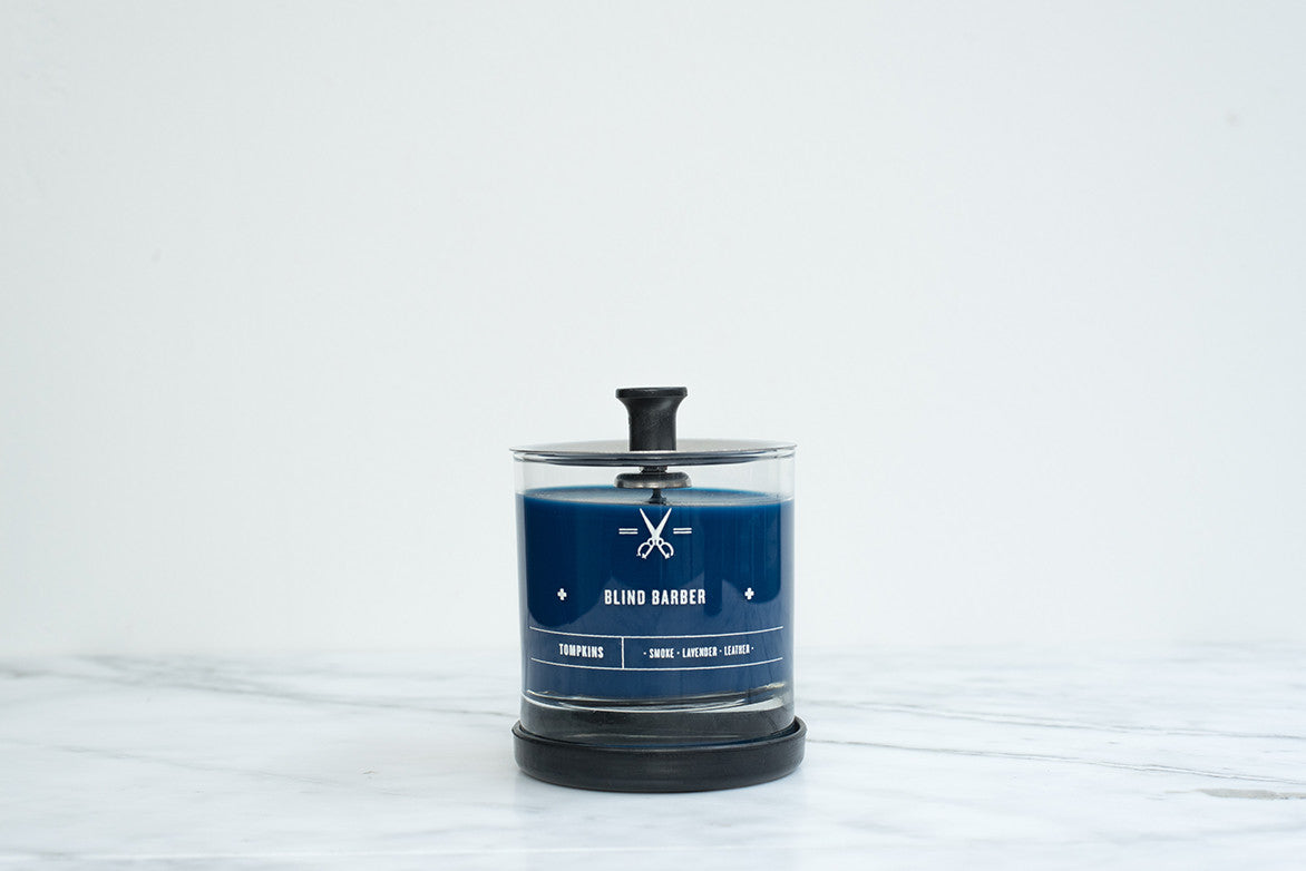 BLIND BARBER TOMPKINS SCENTED CANDLE - SMALL
