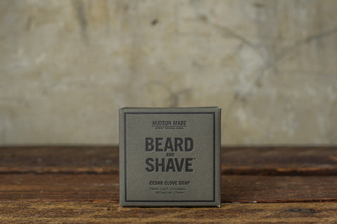 HUDSON MADE BEARD & SHAVE CEDAR CLOVE SOAP