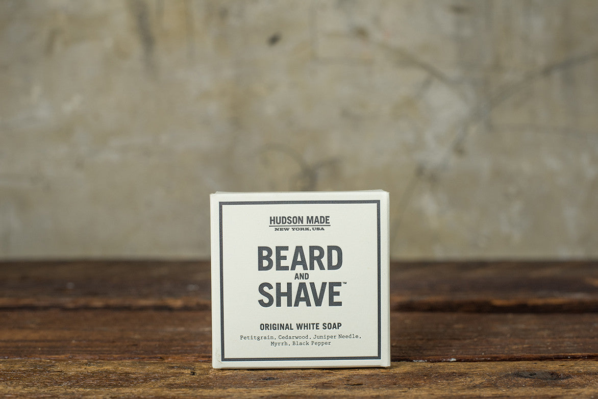HUDSON MADE BEARD & SHAVE ORIGINAL WHITE SOAP