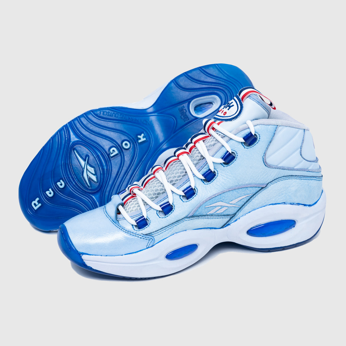 LQQK STUDIOS X 76ERS REEBOK QUESTION MID - INDIGO