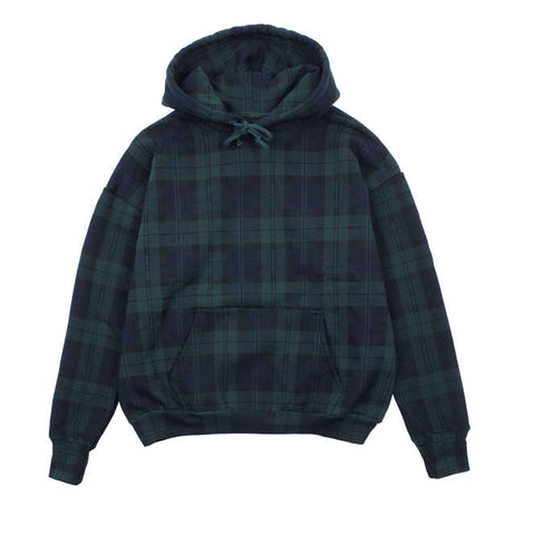 TARTAN PLAID ICON HOODIE - FOREST / NAVY