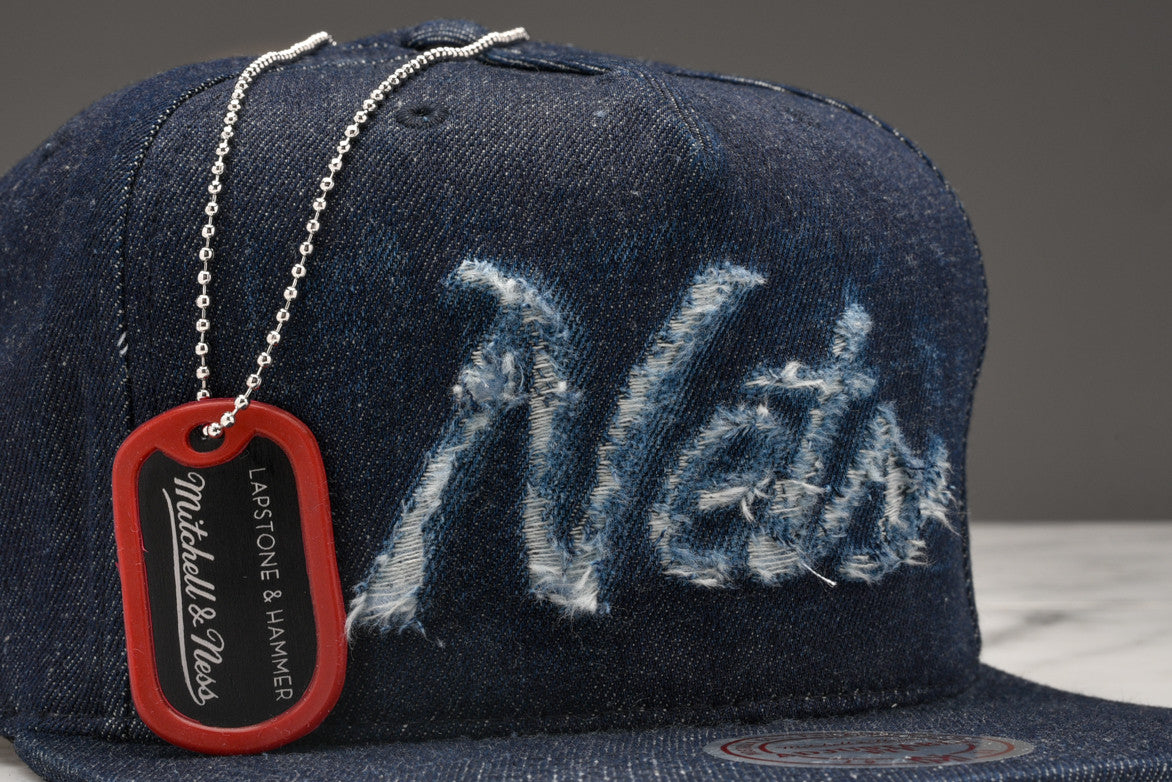 "LAPSTONE & HAMMER x MITCHELL & NESS ""DESTRUCTED DENIM"" - NETS SCRIPT"
