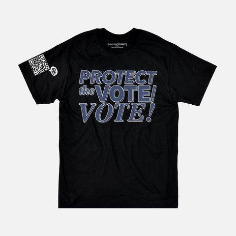 PROTECT THE VOTE TEE - BLACK