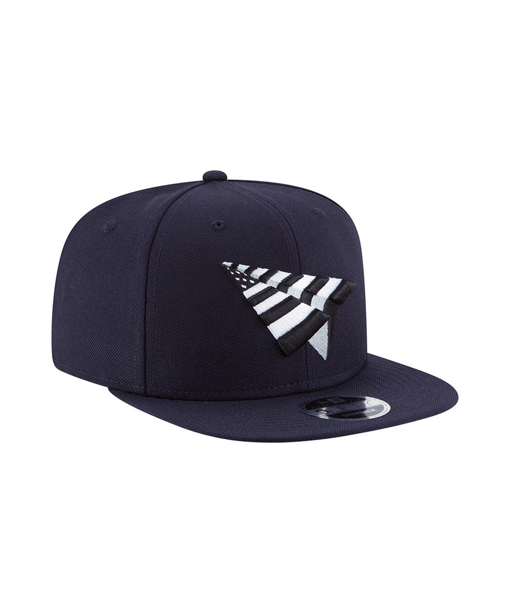 06a5ca65642 PAPER PLANE OLD SCHOOL CROWN SNAPBACK - NAVY. ROC NATION