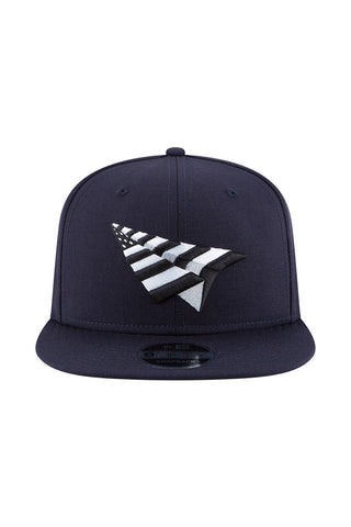 PAPER PLANE OLD SCHOOL CROWN SNAPBACK - NAVY