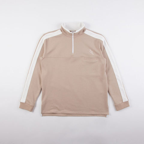 REVERSE TERRY TRIM TRACK TOP - SAND