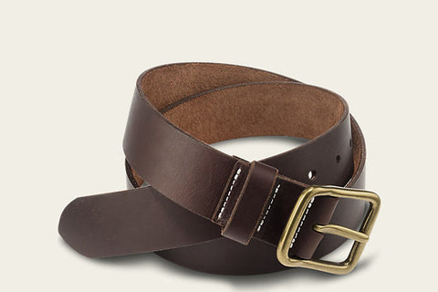 PIONEER LEATHER BELT - AMBER