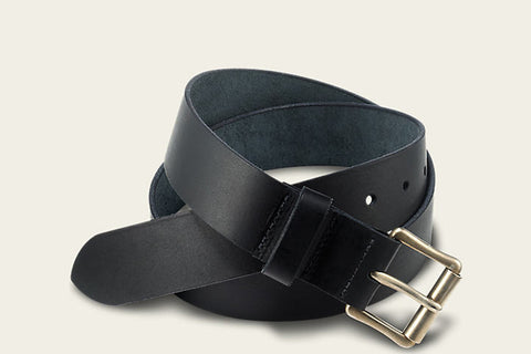 PIONEER LEATHER BELT - BLACK