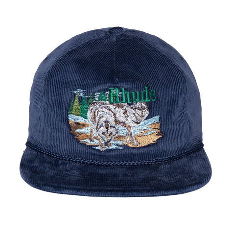 FLEA MARKET WOLF HAT - BLUE