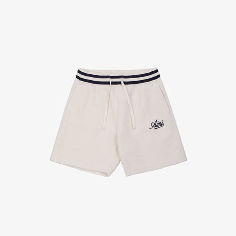 REVERSE FLEECE CAMPER SHORT - CREAM